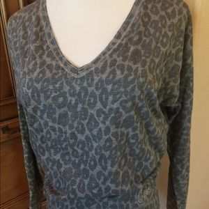Aeropostale Animal Print Long Sleeve Top S/P